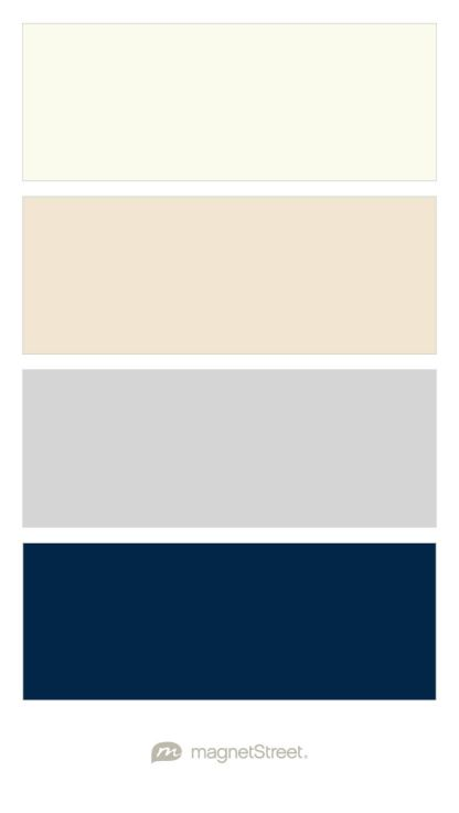 Ivory, Champagne, Silver, and Navy Wedding Color Palette - custom color palette created at MagnetStreet.com