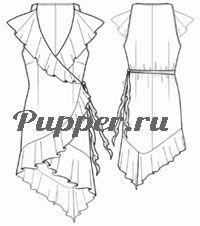 выкройка платья с воланами