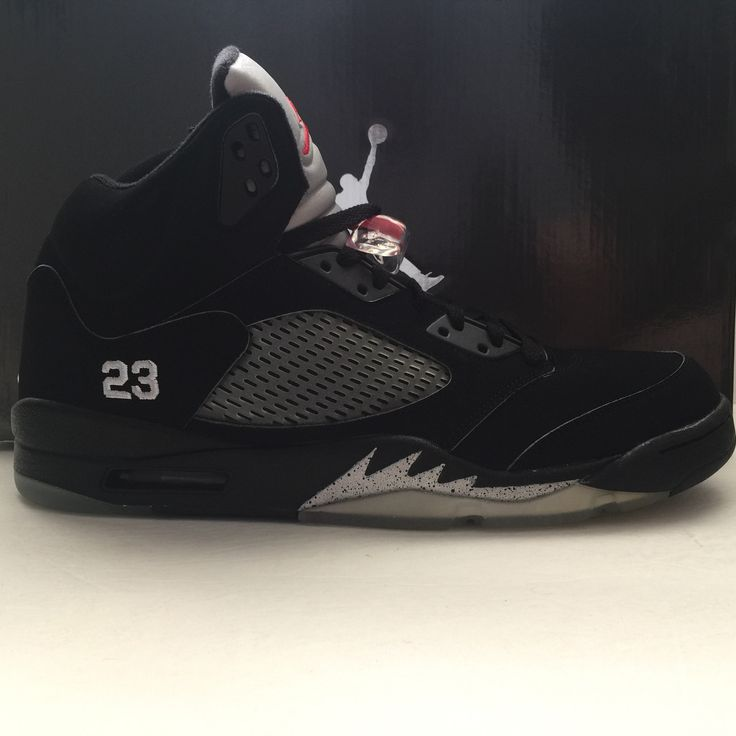 Name : Nike Air Jordan 5 Metallic Black Size (US) : 13 Condition : New.  Find this Pin and more on Basketball hoops and shoes ...