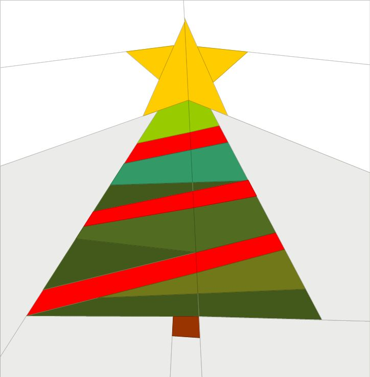 Paper Pieced Christmas Tree Pattern: 20 Best Images About Christmas Paper Pieced Blocks On