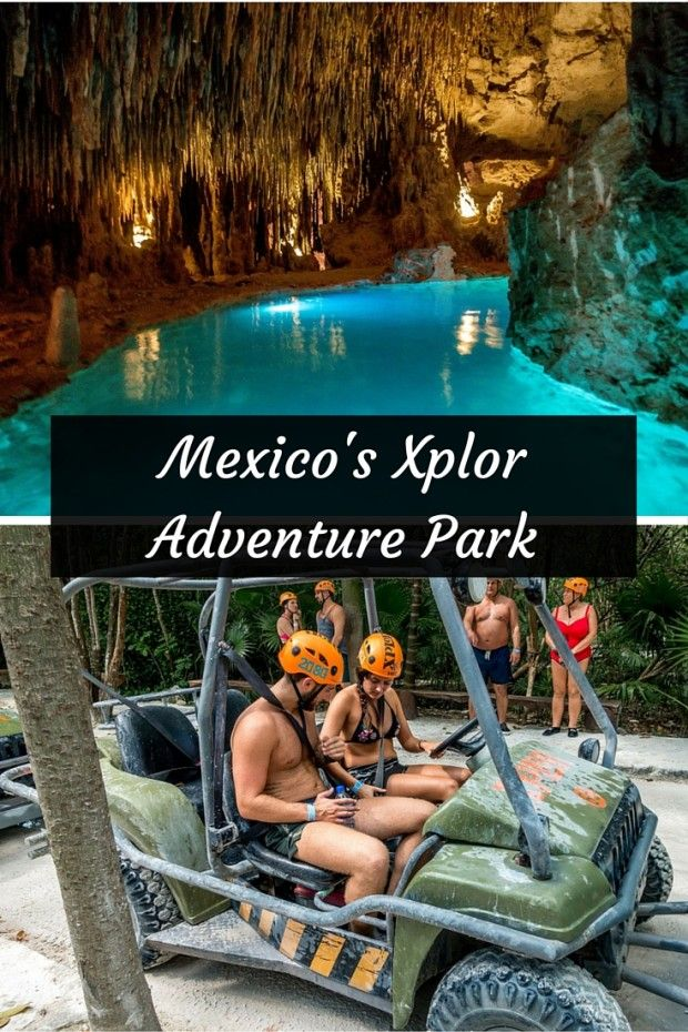 At Xplor adventure park, you can sail over treetops and swim in the underground rivers of Playa del Carmen, Mexico.