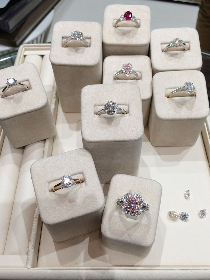 A selection of beautiful engagement rings from Matthew Ely.