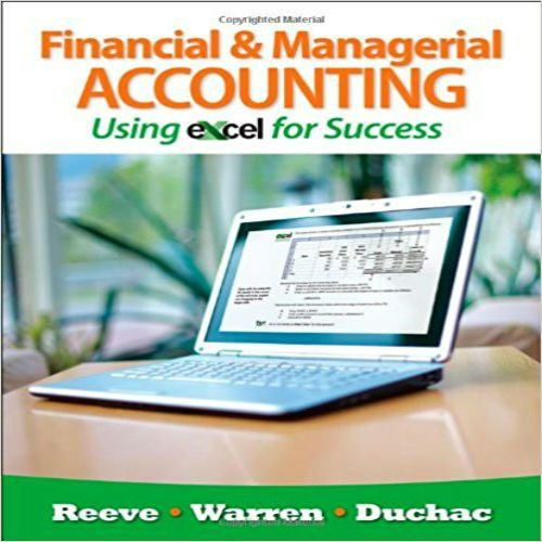 68 best solution manual images on pinterest solution manual for financial and managerial accounting using excel for success 1st edition by reeve warren fandeluxe Gallery