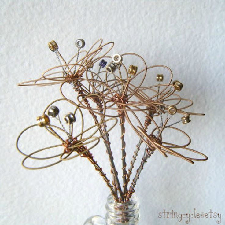 Floral Centerpieces from Used Guitar Strings — Candoodles