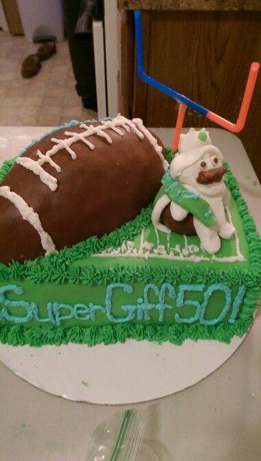 Superbowl birthday cake   Foodz   Pinterest   Birthday cakes ...