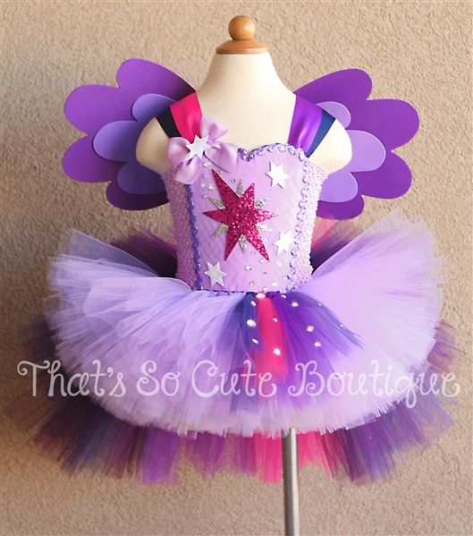 Twilight Sparkle Pony Inspired Tutu Dress-my little pony, purple, birthday, tutu dress, costume, halloween, twilight, sparkle, pony