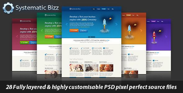 Clean Business Wordpress PSD Template . Systematic Bizz is a modern style design and a very well organized detailed and pixel perfect  PSD  template that will be very easy to use and customize. This template is best suitable for any Business, Personal Portfolio and Marketing type large or small