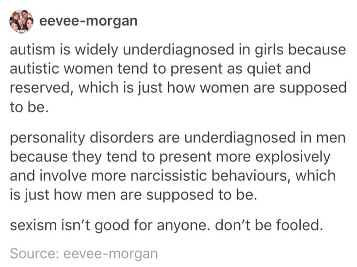 I will scream this into the abyss until someone, anyone, and everyone hears. This is important. Don't ignore mental illnesses just because you're gender expectations are askew.
