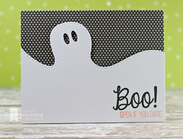 handmade halloween card from lil inker designs clean and simple - What To Say In A Halloween Card