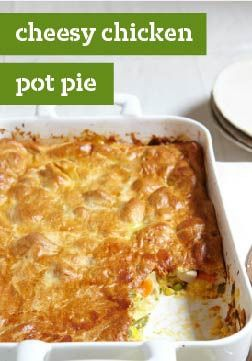 Cheesy Chicken Pot Pie – Prep time only takes 10 minutes then stick ...