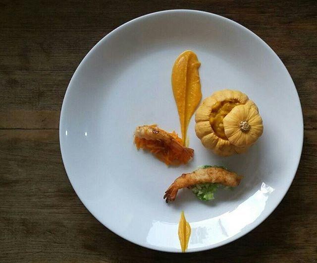 Camarão moranga butternut cabotiá e abobora de pescoço #cozinhabrasileira #courge #aboboradepescoço #instafood #instagood #brazilianfood