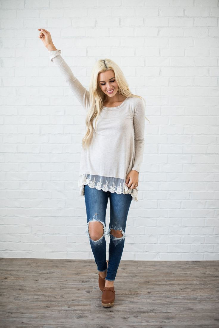5839b5646673b Delilah Lace Top in 2019