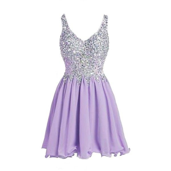Cyy Women V Neck Rhinestone Short Homecoming Party Dresses Prom Gowns... (96…