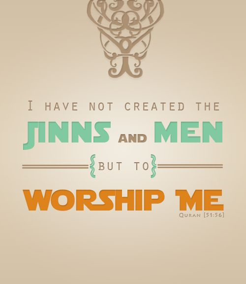 jin and men live to worship Allah
