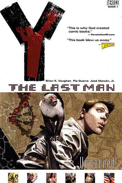 I am the biggest sucker for post-apocalypse storylines, and Y the Last Man is one of the best out there.