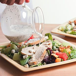 How to Build an Energy-Boosting Power Salad-- 4 Helpful Tips from EatingWell #salad #healthy #howto