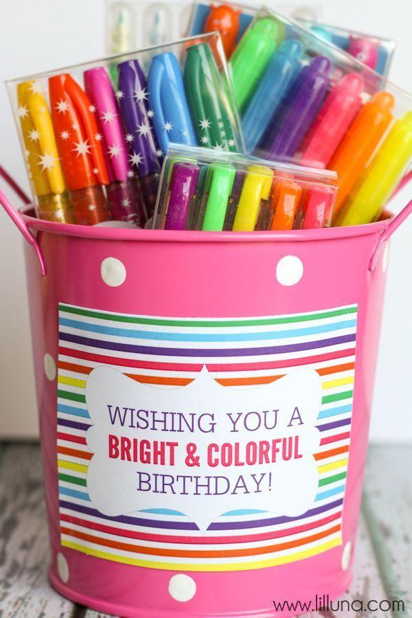 CUTE Art Supplies Birthday Gift Idea with Free Prints { lilluna.com } A fun idea that any art lover will love!!