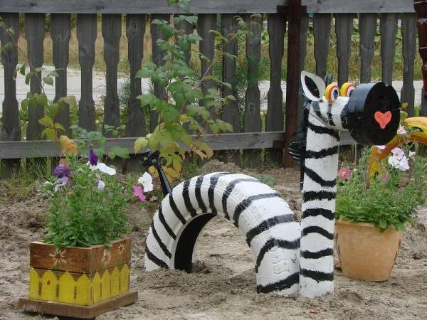 10 DIY Ideas of Reused Tires for your Garden
