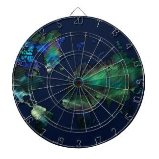The World in Blues Dart Board