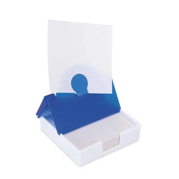 COD.EO026 Memo Set. Tapa traslúcida. Porta hoja en tapa. Incluye block de hojas blancas.