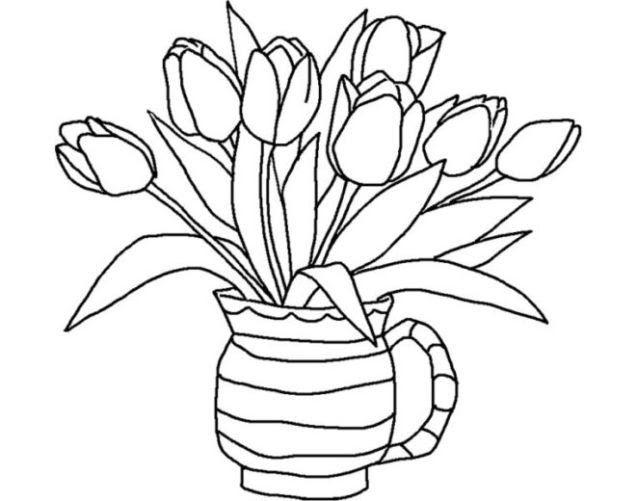 30 Gambar Bunga Kartun Lengkap Gambar Buah Kartun Hitam Putih