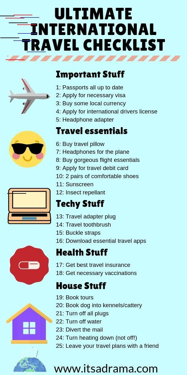 Ultimate Travel Checklist 28 Overlooked But Essential Things To Do International Travel Checklist Travel Checklist International Travel Tips