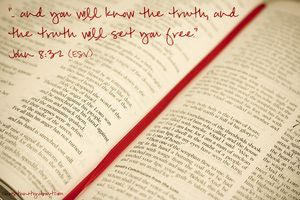 Truth Will Set You Free - John 8:32 - Verse of the Day