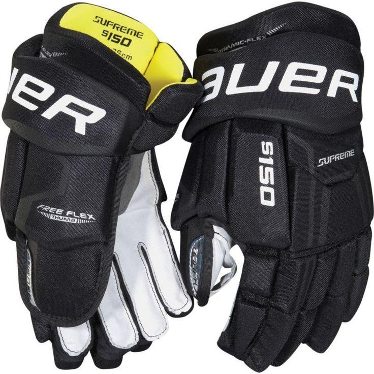 Bauer Senior Supreme 150 Ice Hockey Gloves, Black