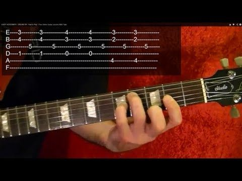 ▶ EASY! AEROSMITH - DREAM ON - How to Play - Free Online Guitar Lessons With Tabs - YouTube