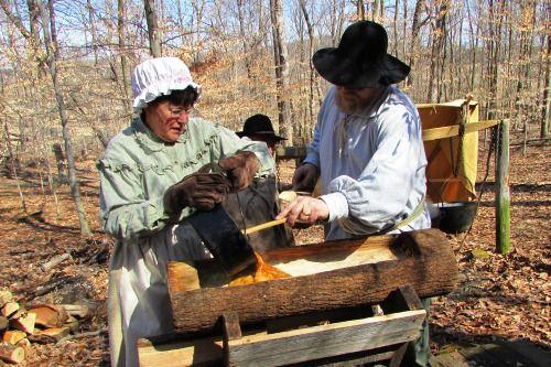 early settlers | Early Settlers making Maple Sugar