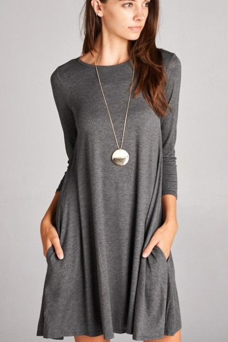 The Perfect Little Dress in Charcoal