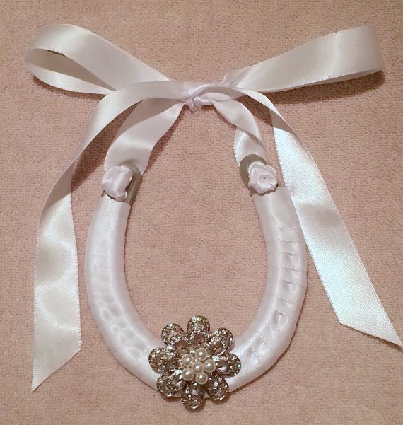 Give the gift of luck...wedding horseshoe...at https://www.etsy.com/listing/177630811/wedding-horseshoe-with-crystal-brooch