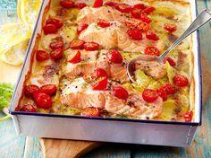 Kartoffel-Lachs-Gratin mit Dillsahne (LECKER)