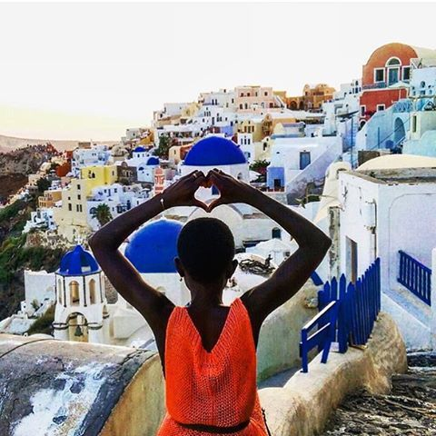 Heart. @slj_gone_walkabout // Oia, Greece. #travelnoire #oia  Who are you going to #Greece with? Tag them!