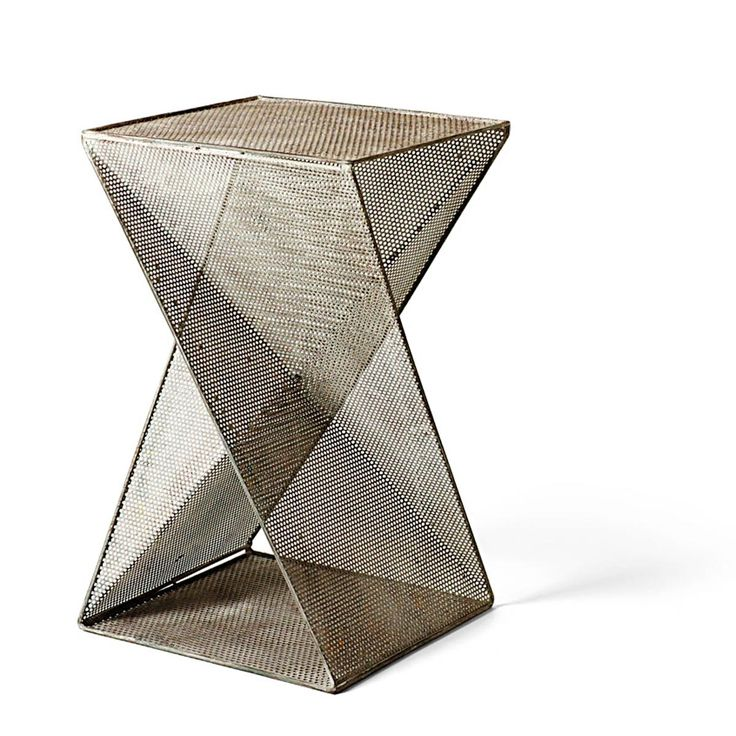 Geometric Twist Perforated Metal Industrial Modern End Tab   Table FurnitureLiving. 26 best Modern Furniture Pieces images on Pinterest