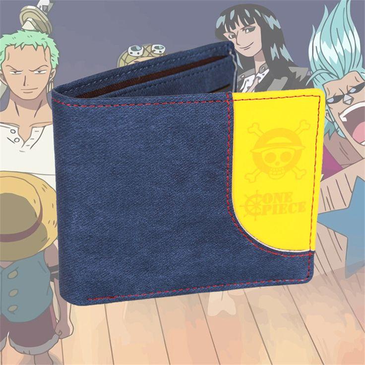 2017 New ONE PIECE Luffy Trafalgar Law Cos Printing Short Anime Women Wallet Cheap Men Wallets Men Clutch Bags ID Card Holder #Affiliate