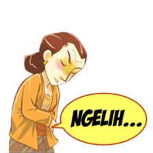 Mbak Sri is a very funny and expressive Javanese girl. You can also use the Mbak Sri sticker set to express your feelings.