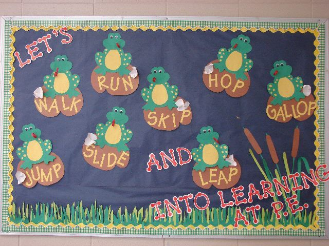 Bulletin board idea to leap into learning! They used CTP's Dot-to-dot red letters.