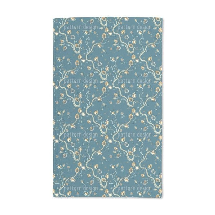 Uneekee Ethno Branches Teal Hand Towel