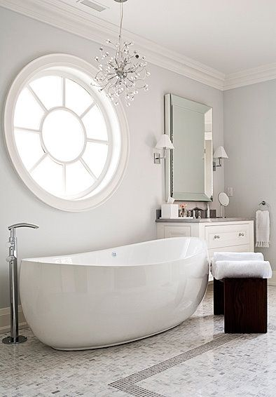 I love the look!! crisp clean lines with a bit of traditional