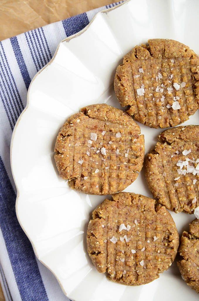 Almond Butter Cookies (Raw, GF)