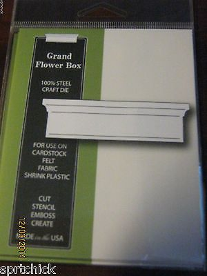 Grand Flower Box die 821 -  0.9 x 3.1 inches.   - works with the Grand Madison Window die