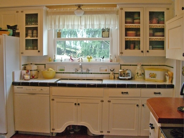 Like window over sink new home requirements pinterest for 1920 kitchen floor tile
