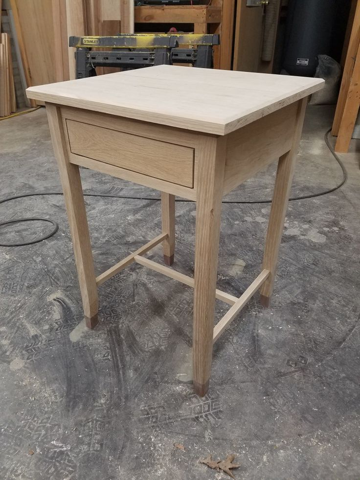 My white oak nightstand. Unfinished.