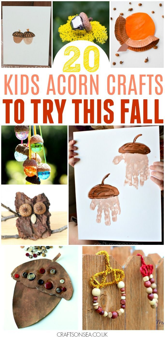 These easy acorn crafts for kids are the perfect way for kids to celebrate autumn and fall. Autumn handprint crafts, fine motor skills and sensory play.