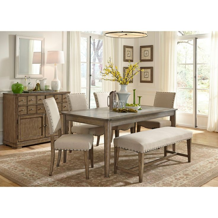 Weatherford Rustic Casual Rectangular Leg Table With Concrete Insert By Liberty Furniture At Johnny Janosik