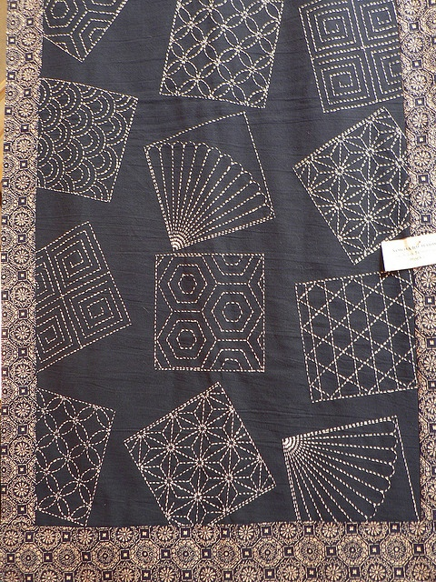 Japanese - sashiko technique by ramson, via Flickr