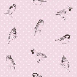 Esta Home Belle Rose Pastel 115747 vogeltjesbehang | Esta Belle Rose | BEHANGEXPERT : 20.000 dessins online !