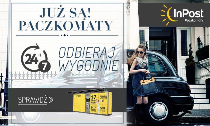 Projekt bannera informującego o nowym sposobie dostarczenia paczek - InPost #quiosque #inpost #przesylka #paczkomaty