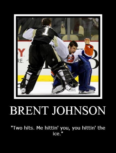After Brent Johnson took out DiPietro...Feb 2011: Hockey 3, It S, Hockey Stuff, Ice, Goalie Fights, Pittsburgh Penguin, Penguins Hockey, Photo, Hockey Fights